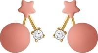 Spargz Candy Matte Baby Round Balls Earrings For Women Diamond Alloy Stud Earring