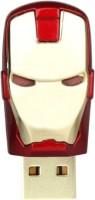 Green Tree Iron Man Head Metal Fancy 32 GB Pen Drive(Red, Gold)