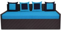 Auspicious Home Kaiden (4 Pillows) Double Fabric Sofa Bed(Finish Color - Blue Mechanism Type - Pull Out)