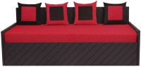Auspicious Home Kaiden (4 Pillows) Double Fabric Sofa Bed(Finish Color - Red Mechanism Type - Pull Out)