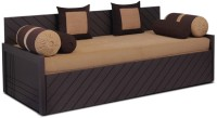Auspicious Home Kaiden (2 Pillows, 4 Bolsters) Double Fabric Sofa Bed(Finish Color - Brown Mechanism Type - Pull Out)