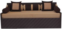 Auspicious Home Kaiden (2 Pillows, 5 Bolsters) Double Fabric Sofa Bed(Finish Color - Brown Mechanism Type - Pull Out)