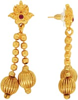 Spargz Antique Gold Brass Synthetics Stone Earring For Women & Girls Diamond Brass Dangle Earring