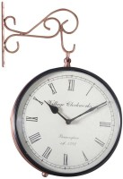 Halowishes Analog Wall Clock(Brown, With Glass)
