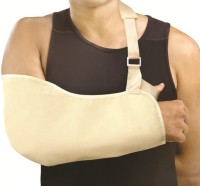 Vkare Pouch Arm Sling Shoulder Support (XL, Beige)