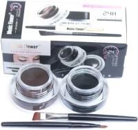 Music Flower Long Wear Gel Eye Liner (24 H Eye Studio) 6 g(Black, Brown) - Price 146 70 % Off