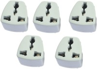 View Axxel India 3 Pin Conversion Plug Pack Of 5 Pcs Power Adapter Worldwide Adaptor(White) Laptop Accessories Price Online(Axxel)