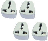 View Axxel India 3 Pin Conversion Plug Pack Of 4 Pcs Power Adapter Worldwide Adaptor(White) Laptop Accessories Price Online(Axxel)