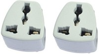 View Axxel India 3 Pin Conversion Plug Pack Of 2 Pcs Power Adapter Worldwide Adaptor(White) Laptop Accessories Price Online(Axxel)