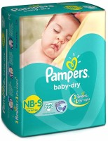 Pampers Baby-Dry Diapers - S(22 Pieces)