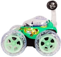 Shy Products Rechargeable STUNT Racer Remote Control Car Kids Toys Battery Operated RC Music(Green)