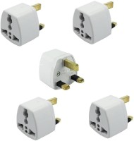 View Axxel UK Universal Flat Pin 3 Pin Pack Of 4 Pcs Travel Power Plug Worldwide Adaptor(White) Laptop Accessories Price Online(Axxel)