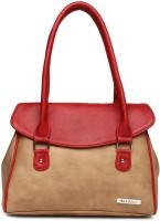 Mast & Harbour Hand-held Bag(Beige, Red)