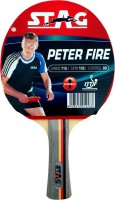 Stag Peter Fire With Deluxe Case Red, Black Table Tennis Racquet(195 g)
