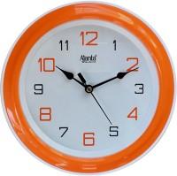 Ajanta Analog 20 cm X 20 cm Wall Clock(Orange, With Glass)