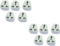 View Axxel India 3 Pin Conversion Plug Pack Of 10 Pcs Power Worldwide Adaptor(White) Laptop Accessories Price Online(Axxel)