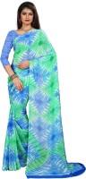 Divastri Floral Print Fashion Georgette Saree(Multicolor)