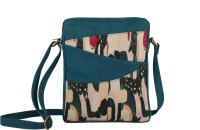 Rub & Style Women Green Canvas Sling Bag