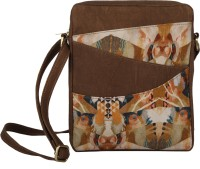 Rub & Style Women Brown Canvas Sling Bag