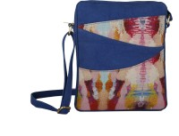 Rub & Style Women Blue Canvas Sling Bag