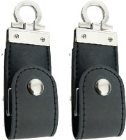 Green Tree Fancy Black Leather (Pack Of 2) 32 GB Pen Drive(Black)