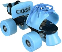 Cosco Cosco Zoomer Quad Roller Skates - Size Suitable for 10 years & above OR Shoe size from 25.3 cms to 29.3 cms Quad Roller Skates -  6 - 12 (Senior)(Blue, Yellow, Orange, Pink)