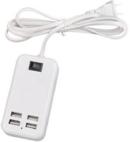 ReTrack 4 Ports 15W USB Desktop Line Power Adapter Wall 1 A Multiport Mobile Charger with Detachable Cable(White)