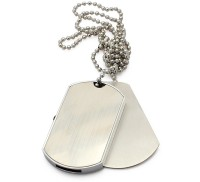 View Eshop Hi-Speed Fashionable Wearable Beard Chain Dog Tag with Hidden USB 16 GB Pen Drive(Silver) Laptop Accessories Price Online(Eshop)