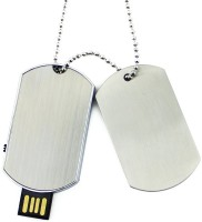 View Eshop Army Metal Necklace Solider Dog Tag Chain Shape 4 GB Pen Drive(Silver) Laptop Accessories Price Online(Eshop)
