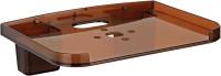 0001 SET TOP BOX & REMOTE HOLDER Plastic Wall Shelf(Number of Shelves - 1, Brown)