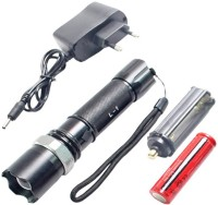 View Jeeya Multifunction Flashlight Torches Emergency Lights Torches(Black) Home Appliances Price Online(Jeeya)