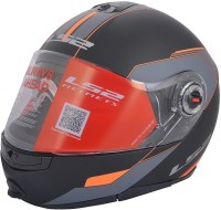 LS2 Midnight Motorsports Helmet(Orange)