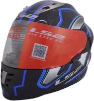 LS2 Space Motorsports Helmet(Black, Blue)