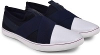 Andrew Scott Men's Navy Blue Slip On Sneakers(Navy)