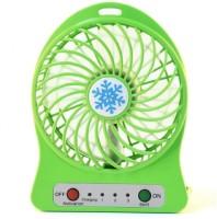 View Powerpak Multi-Functional Portable Rechargeable Battery Mini Fan With 3 Speed Level Mini USB Plastic Fan - Green USB Fan(Green) Laptop Accessories Price Online(Powerpak)