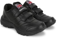 Admiral Boys Velcro Derby Shoes(Black)