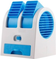 View Bhavya USB Mini Cooler HB-168 USB Fan(Blue, White) Laptop Accessories Price Online(Bhavya)
