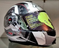 LS2 Universe Motorsports Helmet(Silver)