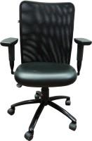 View HOF KAR 3004 M Protected Leather Office Arm Chair(Black) Furniture (HOF)