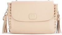 Van Heusen Women Casual Beige Genuine Leather Hand-held Bag