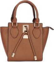 Van Heusen Women Casual Tan Genuine Leather Hand-held Bag