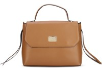 Van Heusen Women Casual Brown Genuine Leather Hand-held Bag