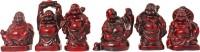 Art N Hub Fengshui God Laughing Buddha Vastu Idol - Handicraft Decorative Home Décor God Figurine / Antique Statue Gift item Decorative Showpiece  -  5 cm(Ceramic, Maroon)