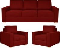 View FabHomeDecor Apollo Fabric 3 + 1 + 1 Red Sofa Set Furniture (FabHomeDecor)
