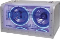 Pyle PLBWS212 Dual 12-Inch 1200 Watt Bandpass with Neon Woofer Rings 12 W Car Speaker(Blue, Stereo Channel)