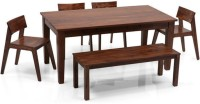 View Home Edge Solid Wood 6 Seater Dining Set(Finish Color - Mahogany) Furniture (Home Edge)