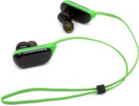 Technomart Sports 4.1 Stereo Green With Free Pouch Headset with Mic(Green, In the Ear)
