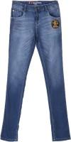 Palm Tree Regular Girls Blue Jeans