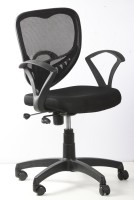 View kschairs Fabric Office Arm Chair(Black) Furniture (Ks chairs)