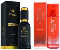 FOGG COMBO PACK OF OSSUM BLOSSOM PERFUME 190 ml + FOGG DISCOVER PERFUME 50 ML Eau de Parfum  -  10 ml(For Men & Women)